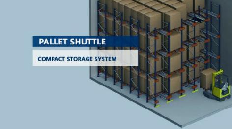 Pallet Shuttle Sistema de armazenagem por compactação