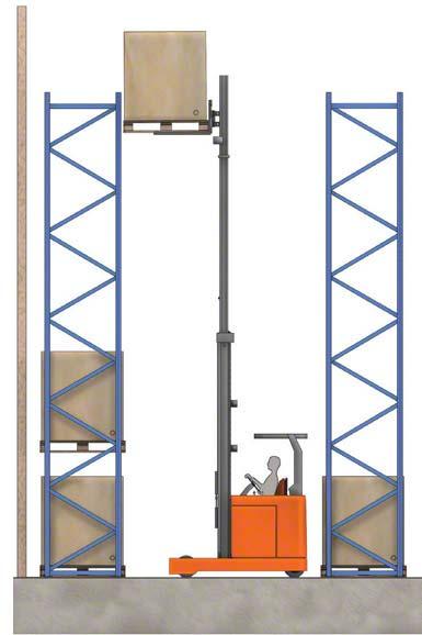 Alguns empilhadores podem levantar a carga acima de 10 metros.