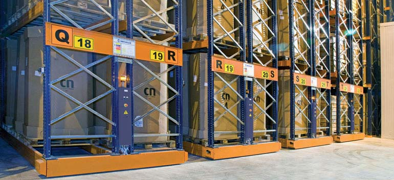 Armazenagem e distribuição de produtos congelados.
