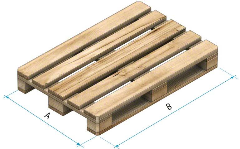 Palete de madeira tipo 1