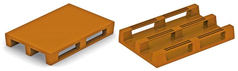 Estas paletes são semelhantes ao sistema de construção das euro paletes de madeira. Não há razões para que apresentem problemas, só se não forem suficientemente resistentes.
