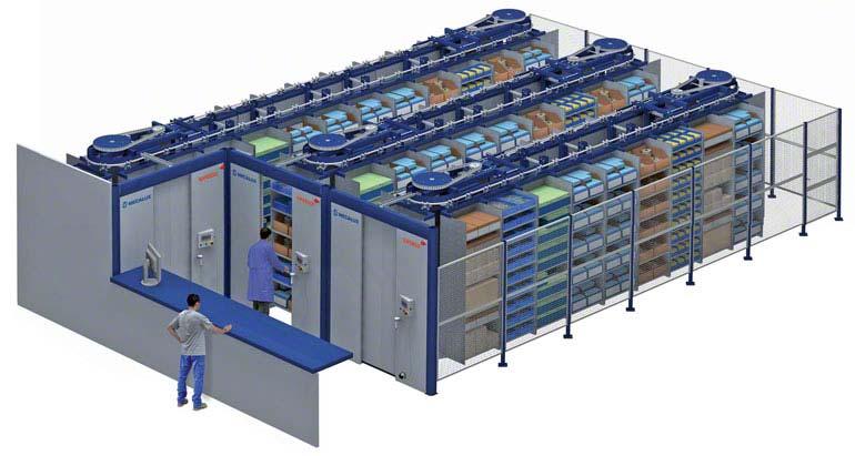 Carro de Transferência horizontal automático Spinblock.