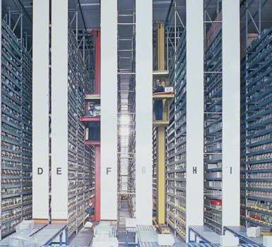 Armazém instalado para fabricante de componentes eletrónicos