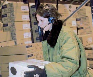 Sistema voice picking aplicado a um centro logístico automatizado de armazenagem e distribuição de produtos congelados