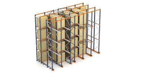 Estantes paletização compacta: a armazenagem de paletes por acumulação