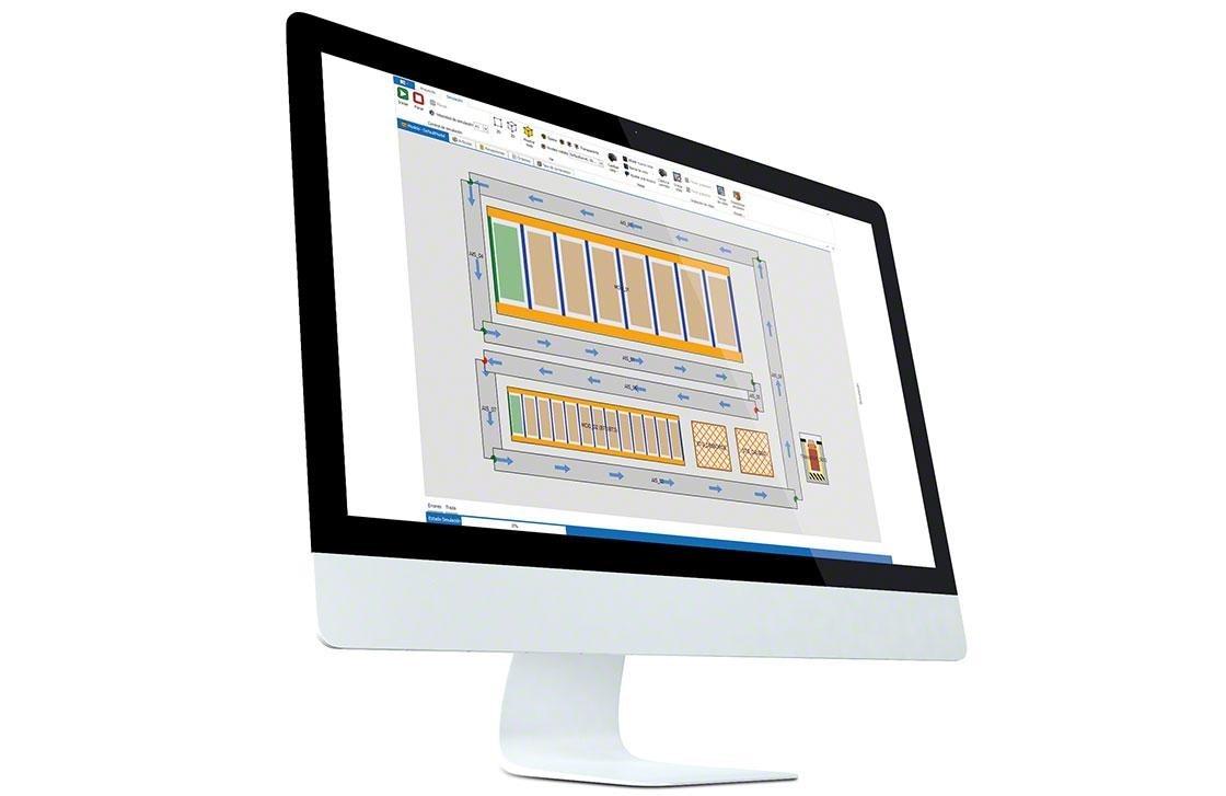 Computador onde foi instalado o WMS para uma correta gestão e graças ao qual é possível medir os KPIs de logística