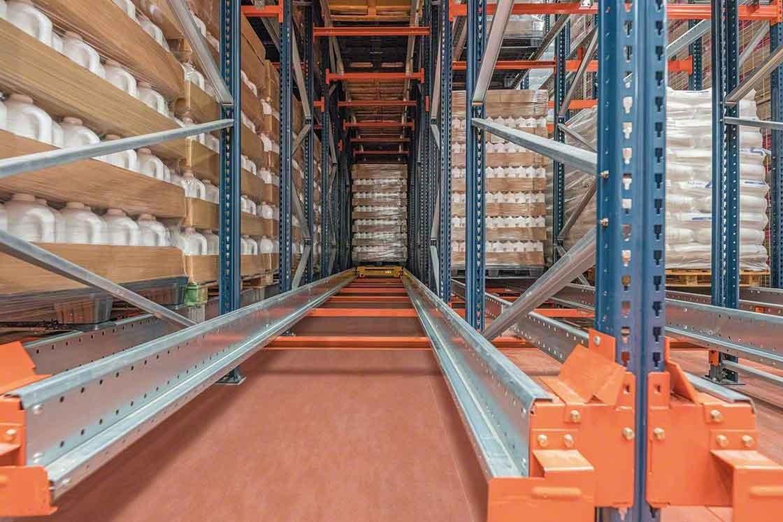 A profundidade dos canais diferencia-se em função dos distintos sistemas de armazenagem compactos