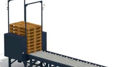 Empilhar ou liberar paletes extras em um circuito de transportador industrial