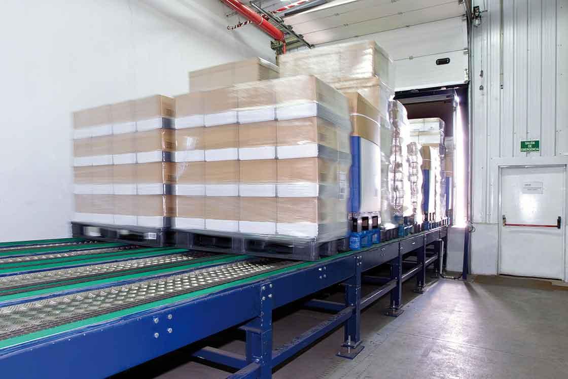 As plataformas de carga automática permitem acelerar todo o processo de expedição de mercadorias